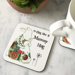 Mummy hugs coaster