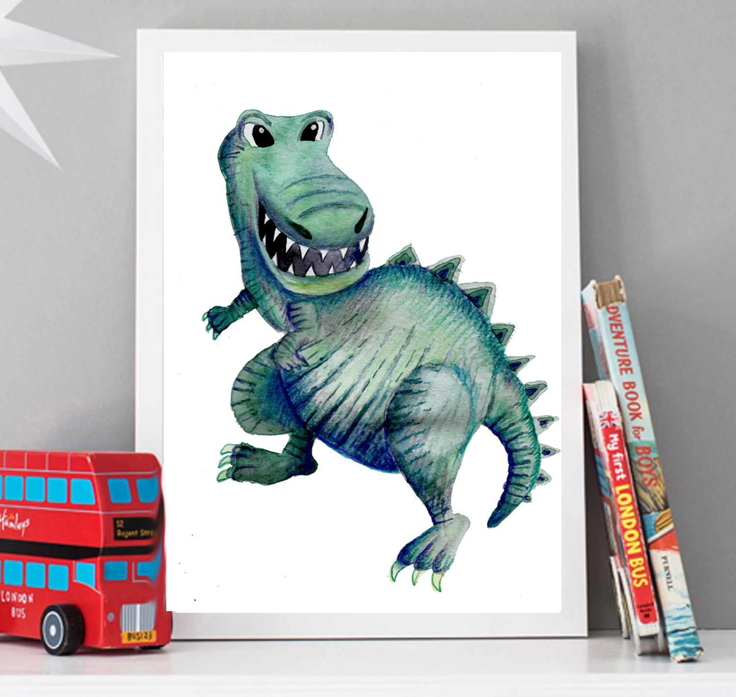 Dinosaur Wall Art For Kids Bedrooms Locally Produced For You