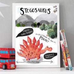 stegosaurus-dinosaur-print-for-a-boys-bedroom