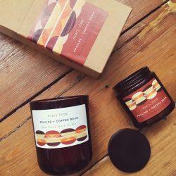 Praline & coffee bean candle