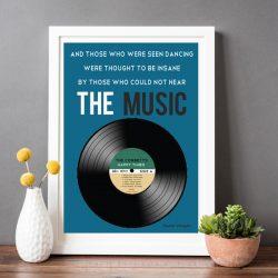 Personalised music print