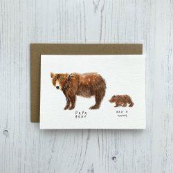 Papa bear personalised card