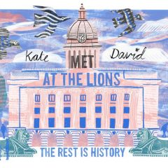 Met at the lions personalised print