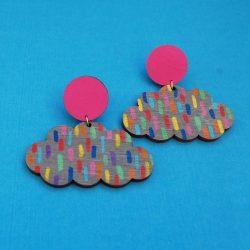 happy cloud earrings