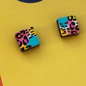 Mini Earrings - Hand painted 80s patterned mini studs Mini Earrings - Hand painted 80s patterned mini studs Mini Earrings - Hand painted 80s patterned mini studs