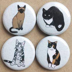 cat badges illustrations