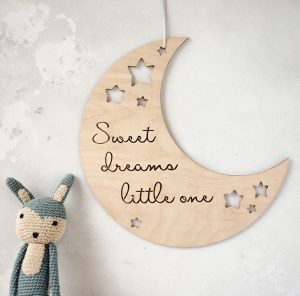 Moon and stars nursery art
